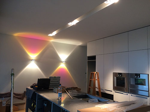 Arbeiten mit Lichtelementen